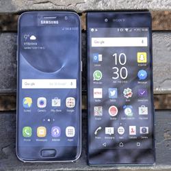 دوربین گوشی های galaxy S7 و xperia Z5